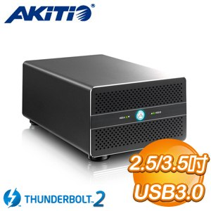 AKiTiO 雷霆雙劍 3.5吋/2.5吋 Thunderbolt2 2Bay 影音外接盒