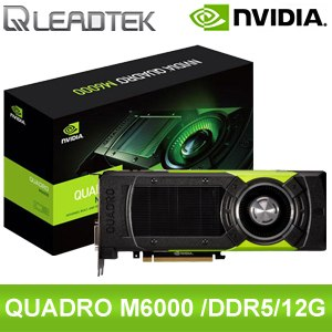 Leadtek 麗臺 Quadro M6000 12G GDDR5 384BIT PCIE 繪圖卡