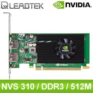 Leadtek 麗臺 Quadro NVS 310 512M DDR3 64bit PCIE 繪圖卡《原廠註冊三年保固》