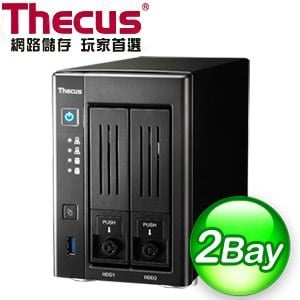 Thecus 色卡司 N2810 2Bay NAS 網路儲存伺服器