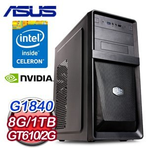 華碩 H81 平台【黑暗刃】Intel G1840 8G 1TB GT610 平價獨顯電玩機