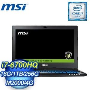 MSI 微星 WS60 6QJ-443TW-BB7670H16G1T0DX10P 筆記型電腦