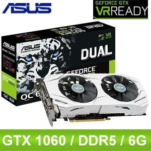 ASUS 華碩 DUAL-GTX1060-O6G PCIE 顯示卡《原廠註冊四年保固》