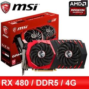 MSI 微星 RX 480 GAMING X 4G PCIE 顯示卡《原廠註冊四年保固》