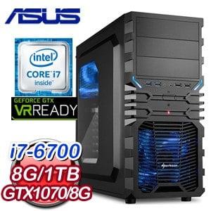 華碩 H170 平台【艾特利亞】Intel i7-6700 GTX1070 電競VR虛擬實境機《含WIN10》
