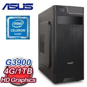 華碩 H110 平台【魚躍龍門】Intel Celeron G3900 4G 1TB 文書大容量電腦