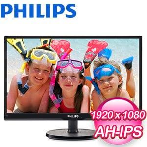 PHILIPS 飛利浦 226V6QSB6 22型 AH-IPS窄邊框不閃爍寬螢幕