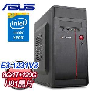 華碩 H81 平台【畫龍點睛】Intel Xeon E3-1231V3 K620 2G獨顯 120G SSD+1TB專業繪圖主機