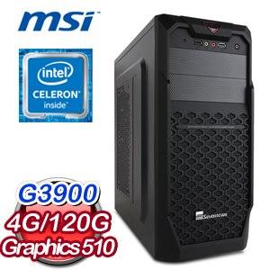 微星 H110 平台【錦上添花】Intel Celeron G3900 4G 120G SSD文書電腦