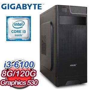 技嘉 B150平台【奮發向上】Intel i3-6100 8G 120G SSD 高效文書機