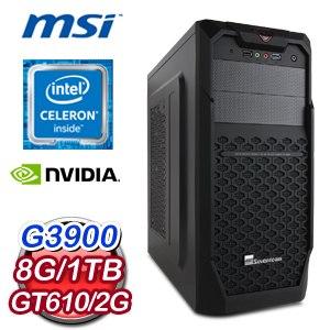 微星 H170 平台【出類拔萃】Intel Celeron G3900 8G 1TB 超值文書處理專用機