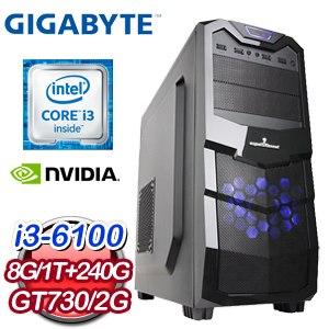 技嘉 B150 平台【有求必應】Intel i3-6100 8G 1TB GT730 高效能獨顯電腦