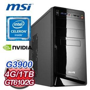 微星 H110平台【勢如破竹】Intel Celeron G3900 4G 1TB 高效能燒錄電腦