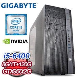 技嘉 H110 平台【技嘉電腦VI】Intel i5-6400 8G 1TB GTX950 高效能獨顯電腦