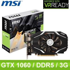 MSI 微星 GTX 1060 3G OCV1 PCIE 顯示卡《原廠註冊四年保固》
