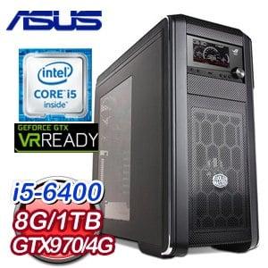 華碩 Z170 平台【伊多拉斯】Intel i5-6400 GTX970 電競VR虛擬實境機《含WIN10》
