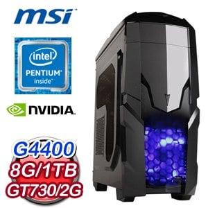 微星 H110 平台【能言善道】Intel Pentium G4400 1TB GT730獨顯效能電腦