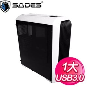 SADES 賽德斯【阿努比斯】ATX電腦機殼《黑白》