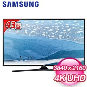 【SAMSUNG三星】43型4KUHD聯網液晶電視(UA43KU6000W)