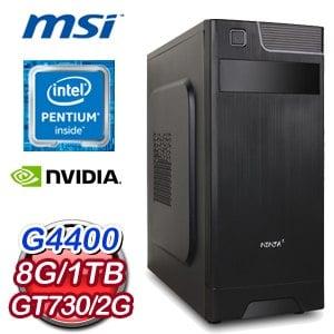 微星 H110 平台【發憤圖強】Intel Pentium G4400 8G 1TB N730K 2G獨顯效能電腦