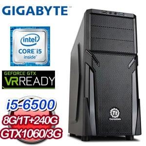 技嘉 Z170 平台【海誓山盟】Intel Core i5-6500 1TB 240G SSD GTX1060獨顯電競專用機