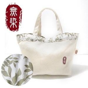 洽維無染 綠葉手提包(24x35cm)