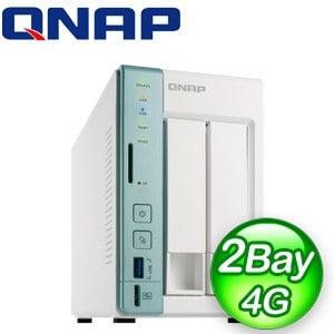 QNAP 威聯通 TS-251A-4G 2Bay NAS網路儲存伺服器