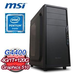 微星 H110 平台【喜從天降】Intel Pentium G4400 1TB 120G SSD超值文書機