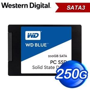 WD 威騰 250G 2.5吋 SATA SSD固態硬碟(讀:540M/寫:500M/TLC)《藍標》WDS250G1B0A