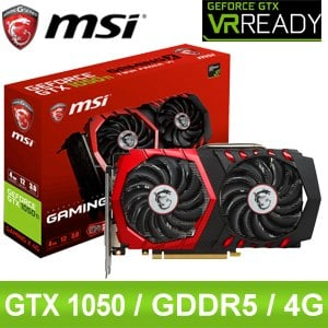 MSI 微星 GTX 1050 TI GAMING X 4G PCIE顯示卡~ 註冊四年