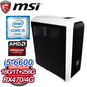 微星Z170平台【土靈之輪】Intel Core i5-6600 256G SSD RX470獨顯高效能電腦
