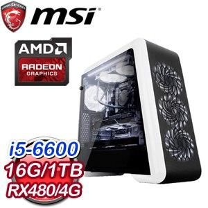微星Z170平台【不朽之王】Intel Core i5-6600 RX480獨顯高效能電腦