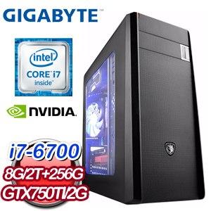 技嘉 Z170 平台【英雄豪傑】Intel Core i7-6700 256G SSD GTX750Ti獨顯高效電競機