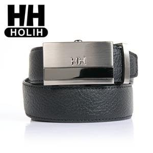 【HH】男款牛皮時尚自動釦式皮帶-黑(4716906082540)