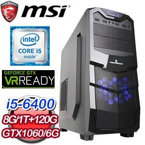 微星H170平台【阿貝師傅】Intel Core i5-6400 GTX1060 6G 電競VR虛擬實境機