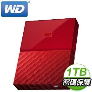 WD 威騰 My Passport 1TB USB3.0 2.5吋外接硬碟《火紅》