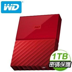 WD 威騰 My Passport 1TB USB3.0 2.5吋外接硬碟《火紅》★送硬碟保護包