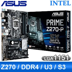 ASUS 華碩 PRIME Z270-P LGA1151 主機板《原廠註冊4年保固》