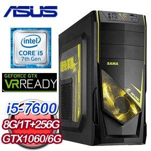華碩 PLAYER【雙龍取水】Intel i5-7600 GTX1060 O6G 獨顯高效能電腦