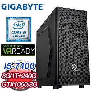 技嘉 HIGHER【爆破酒桶】Intel i5-7400 GTX1060 ARMOR 3G 獨顯高效能電腦