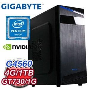 技嘉 MANAGER【反擊風暴】Intel G4560 N730D5OC 超值文書機