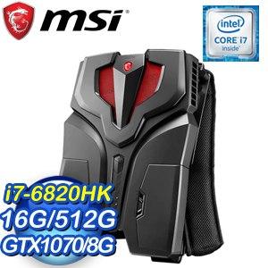 MSI 微星 VR ONE 6RE-001TW-BB7682K16GXXDX10P 電競背包PC