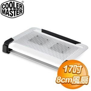 Cooler Master 酷碼 Notepal U2 Plus 17吋 NB筆電散熱墊《銀》