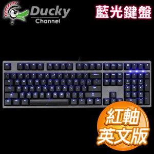 Ducky 創傑 Zero 3108 紅軸 藍光 ABS鍵帽 機械式鍵盤《英文版》