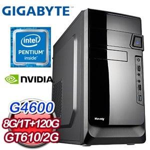 技嘉 MANAGER【長眉羅漢】INTEL G4600 GT610 2G 輕鬆娛樂型電腦