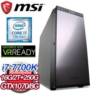 微星 GAMER【ALTIS】Intel i7-7700K GTX 1070 8G 電競VR虛擬實境機