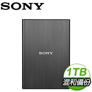 SONY HD-SL1 薄型髮絲紋 1TB USB 3.0 2.5吋外接硬碟《尊貴黑》