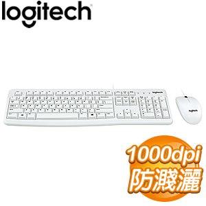 Logitech 羅技 MK120 USB鍵盤滑鼠組《白》