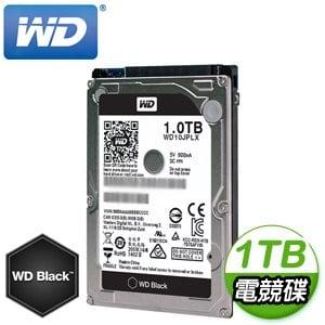 WD 威騰 Black 1TB 2.5吋 7200轉 32M快取 SATA3黑標電競硬碟(WD10JPLX)
