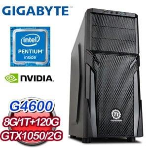 技嘉 PLAYER【紫霞神功】Intel G4600 GTX1050 2G 優質效能獨顯電腦